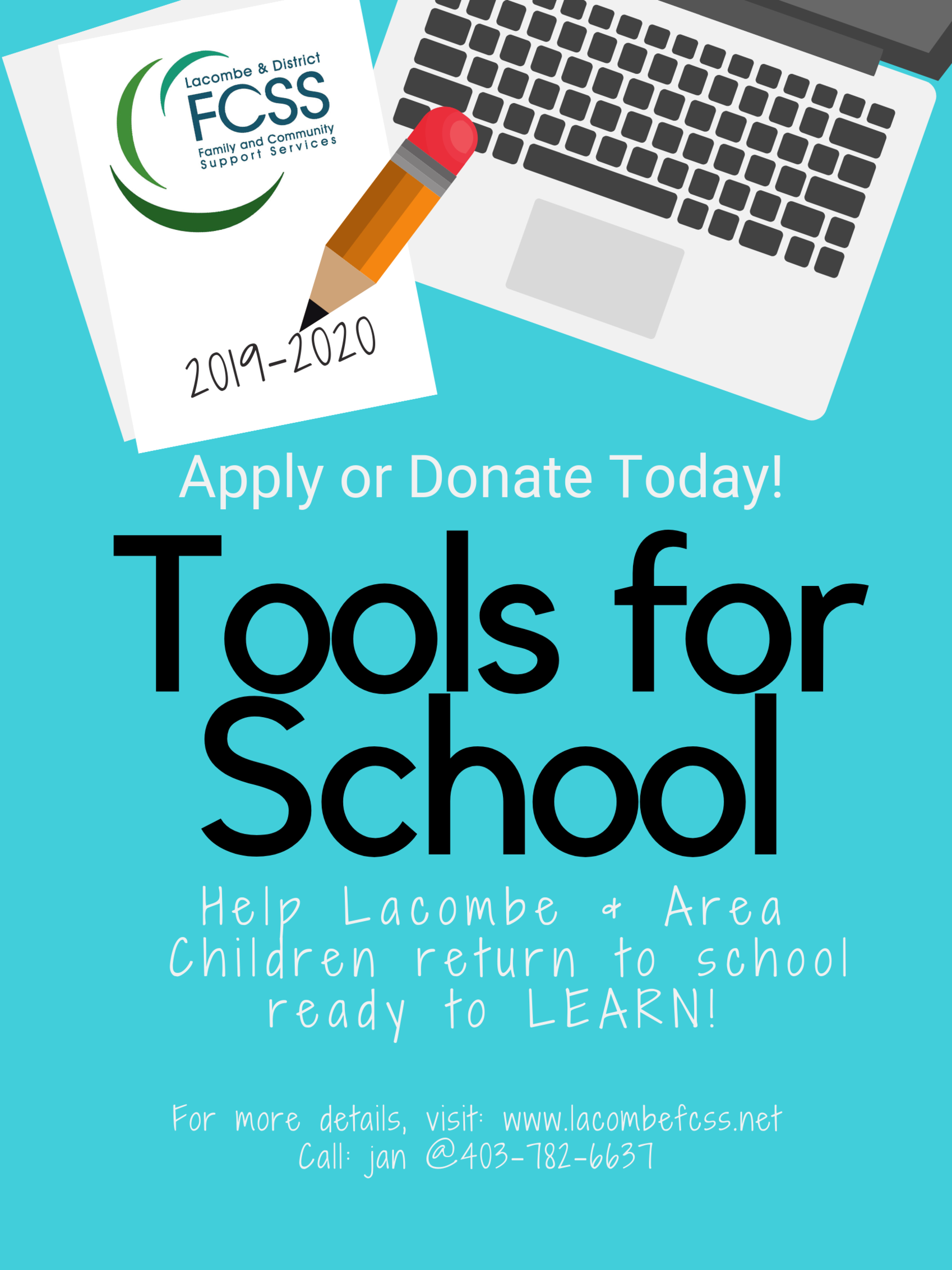 2019-2020 Tools For School poster Lacombe.png